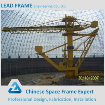 Prefab Lightweight Steel Structure Space Dome for Coal Warehouse