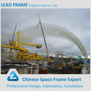 Space Frame Barrel Vault Cement Plants Roof Cover