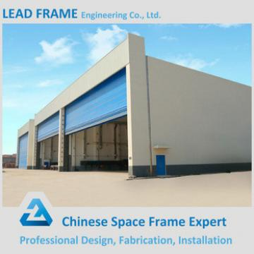 Cheap price A36 ATSM light steel structure frame prefabricated airplane hangar
