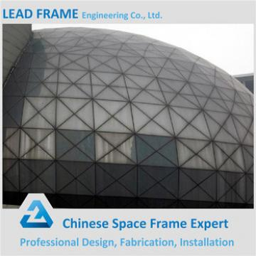 Galvanized steel space frame for stadium