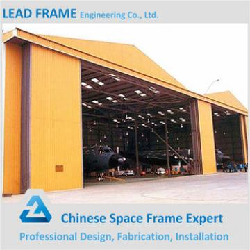 Manufacture steel Prefabricate aircraft hangar arch truss roof