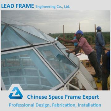 Large Clear Span Steel Structure Dome Glass Roof