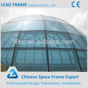 Prefab steel structure fiberglass glass dome
