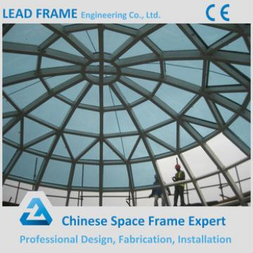 Tubular Steel Structure Roof Skylight Glass