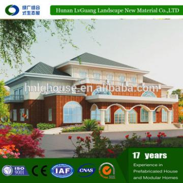 cheapest good quality senior's living prefab house with Two-storey