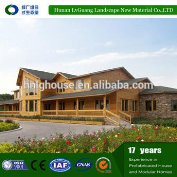 Beautiful design Commercial Recyclable style log prefabricated wooden house
