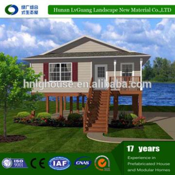 Light Prefab Summer Glass Houses for foreigner in Turn Key prefab houses