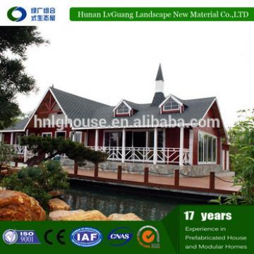 Environmental Friendly WPC Prefab wooden house bungalow