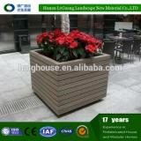 Alibaba Cheap Handmade wpc Wooden Flower Pot Holders