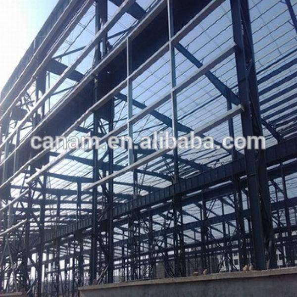 prefabricated steel construction steel structure warehouse #1 image