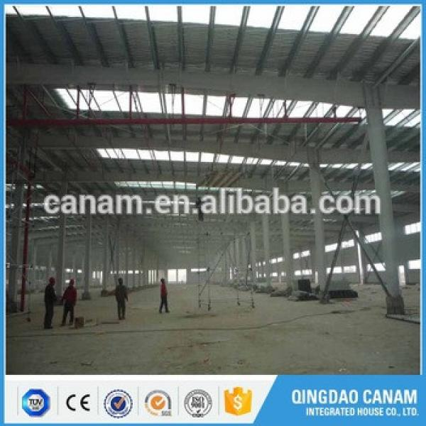 Prefabricated construction steel structure building logistic warehouse in Uzbekistan #1 image