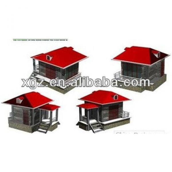 Hipped roof low cost steel structure prefabricated house #1 image