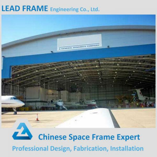 Modern light steel roof aircraft hangar for plane #1 image