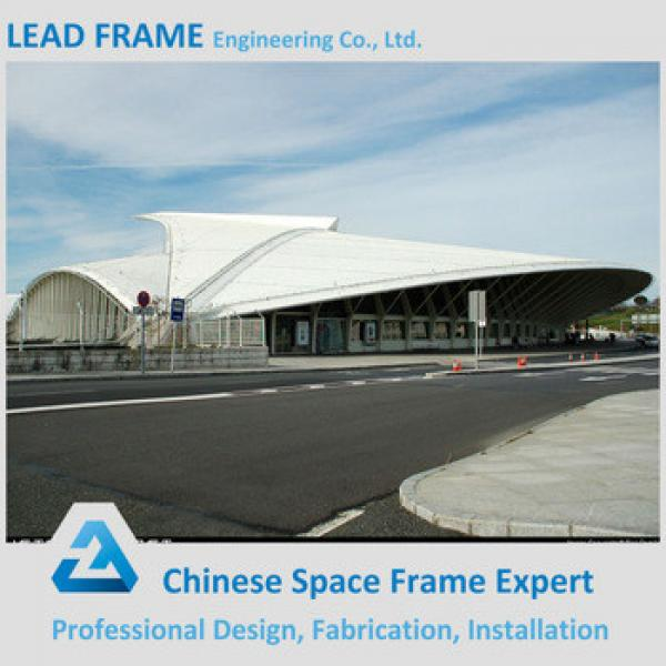 Economic space frame structure stadium roof material #1 image