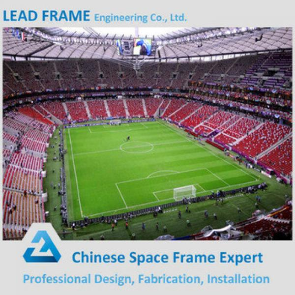 prefab space frame lightweight arch steel building for sports hall #1 image