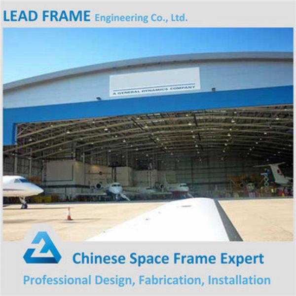 anti wind metal roof steel structure arch aircraft hangar #1 image