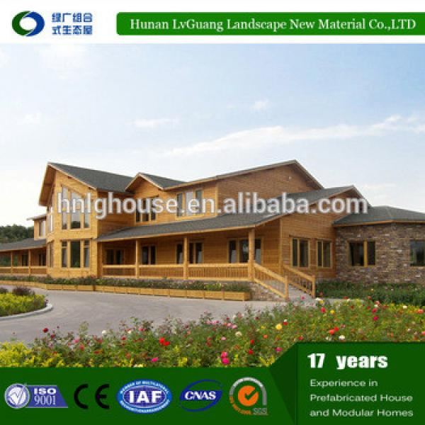 light steel waterproof log cabins prefab house/contianer homes prefabricated luxury villa #1 image