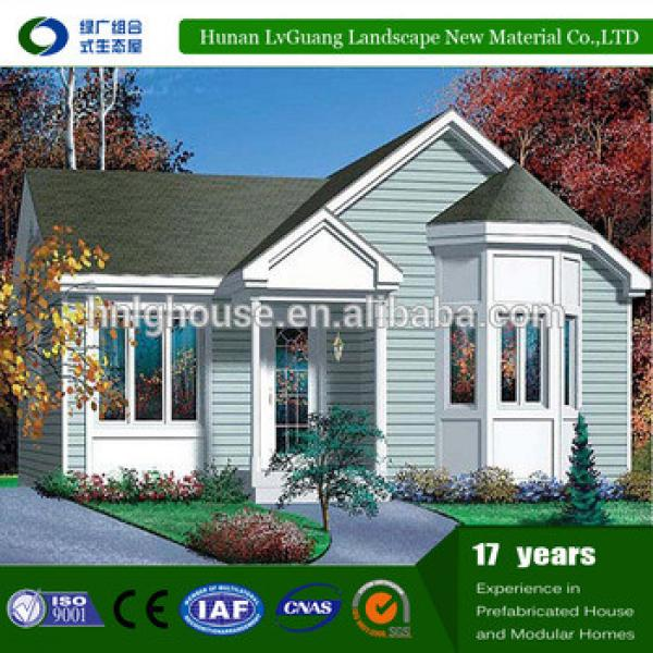 Prefabricated villa wooden log house design for gabon, china apartments cheap 2 bedroom prefab kit homes for sale usa #1 image