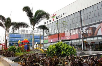 prefabricated steel structure shopping mall china